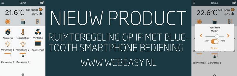 Ruimteregeling op IP met bluetooth smartphone bediening